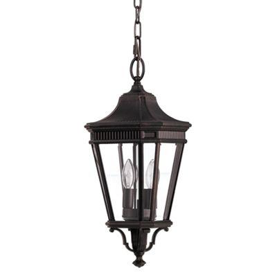 Grecian Bronze Medium Chain Lantern - 2 x 60W E14