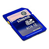 Kingston 8GB Class 4 SDHC Full Sized Memory Card