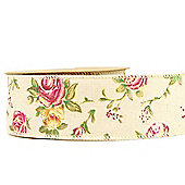 Rose Ribbon Wired Edge – 5cm x 10yards