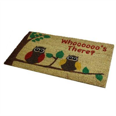 Owls PVC Coir Door Mat 40x70cm