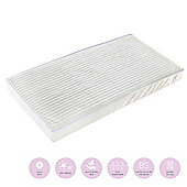 Baby Elegance Micro Fibre Pocket Spring Cot Bed Mattress 70 x 140cm