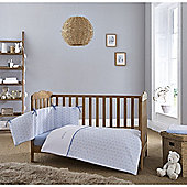 Clair de Lune 2pc Cot/Cot Bed Bedding Set (Speckles Blue)
