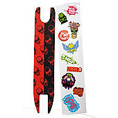 Madd Gear Madd Skulls Scooter Shock Tape - Red/Black