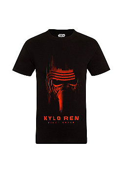 Star Wars Mens T-Shirt - Black & Red