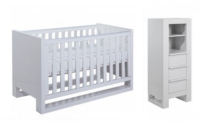 Tutti Bambini Rimini 2 Piece Nursery Room Set - High Gloss White Finish