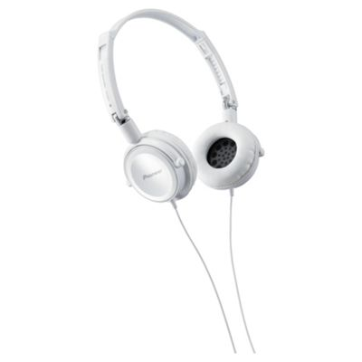 Pioneer Fully Enclosed Headphones with Swivel White SE-MJ511-W