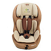 KinderKraft Safety Fix Isofix Group 1,2,3 Car Seat (Beige)