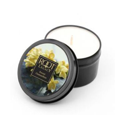 Durable Natural Travel Tin Sweet Osmanthus Floral Fragrance Candle