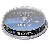 Sony Blu-Ray Disc 25GB 6x (10 Pack) - Inkjet Printer Compatible