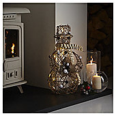 Pre Lit Rattan Snowman Christmas Room Decoration