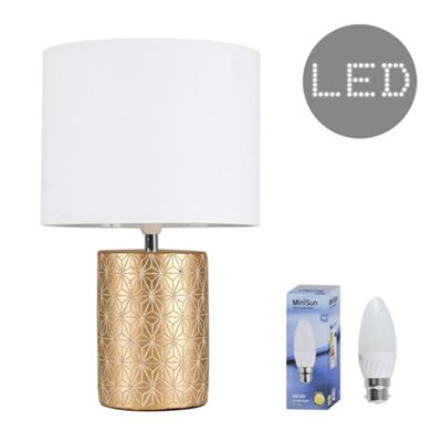 Constellation LED Table Lamp - Gold & White