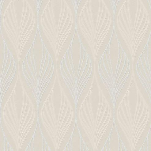 Superfresco Optimum Geometric Subtle Glitter Cream Wallpaper