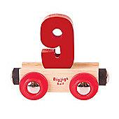 Bigjigs Rail Rail Name Number 9 (Dark Red)