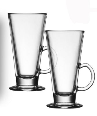 I Style Cafe Latte Glasses, Set of 2