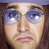 Bristol Novelty - Round Glasses - Purple