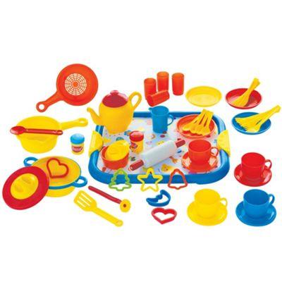 Gowi Toys Dinner Service (Blue - 52 Piece Set)