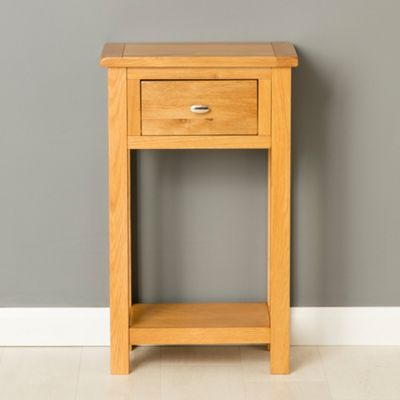 Perfect Poldark Oak Telephone Table   Light Oak