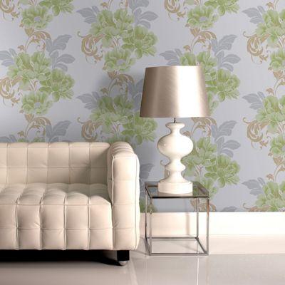 Laurence Llewelyn-Bowen Cascada Floral Soft Green Wallpaper