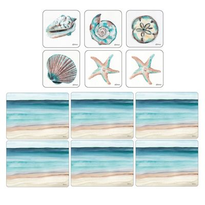 Pimpernel Coastal Shore Placemats and Coasters