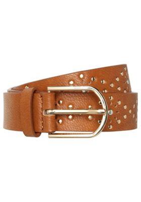 F&F Studded Laser-Cut Belt Brown M