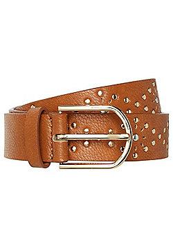 F&F Studded Laser-Cut Belt - Brown