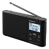 Sony-XDRS41DB Portable DAB+/FM Clock Radio with 10 Preset Stations and LCD Display in Black