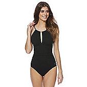 F&F Luxury High Neck Swimsuit - Black