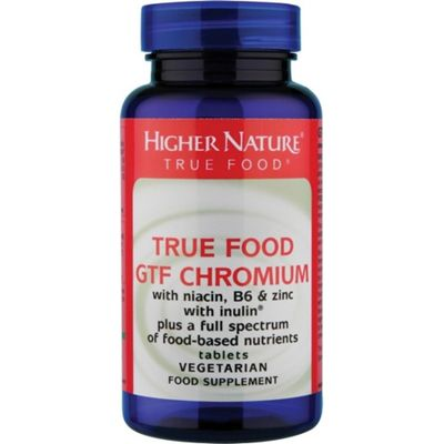 Higher Nature True Food Gtf Chromium 30 Veg Tablets