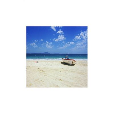 Pharmore Ltd Boat on Beach Wall Art - 60cm x 60cm