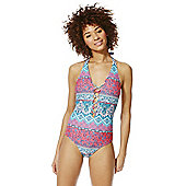 F&F Tall Criss Cross Halterneck Swimsuit - Multi