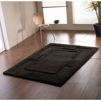 Rugs with Flair Sierra Apollo Black Contemporary Rug - 150cm x 210cm
