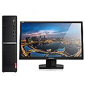 "Lenovo V520S-08IKL Desktop PC Intel Core i5-7400 4GB 128GB SSD Win10 with Lenovo 24"" Full HD LED Monitor"