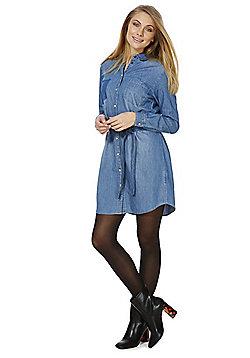Jacqueline De Yong Denim Shirt Dress - Mid wash