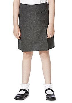 F&F School 2 Pack of Girls Permanent Pleat Skirts - Grey