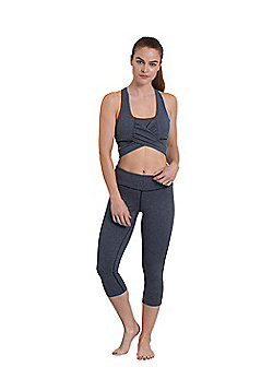 Zakti Knockout Sports Bra - Blue & Black