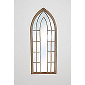 New Large Gothic Designed Arched Outside Garden Wall Mirror 4Ft11 X 2Ft