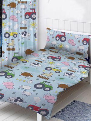 Farm Animals 4 in 1 Junior Bedding Bundle Set