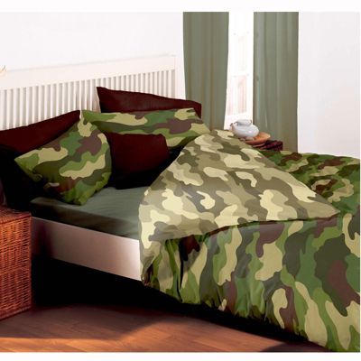 Army Camouflage Reversible Double Duvet Cover