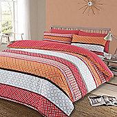 Duvet Cover Pillow Case Set, Geometric Lola - Red