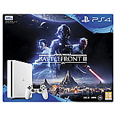 PS4 500GB Star Wars Battlefront II White Console