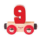 Bigjigs Rail Rail Name Number 9 (Red)