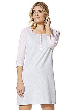 F&F Colour Block Sleep T-Shirt - Multi grey