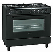 Servis SD900K | 90cm Dual Fuel Range Cooker in Black | Gas Hob, Single Electric Oven