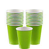 Lime Green Cups - 266ml Paper Party Cups - 20 Pack