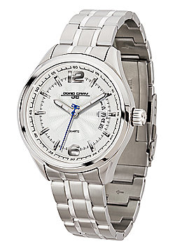Men's Watch JG6100-11 -Silver Strap - Silver Dial - Jorg Gray