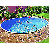 Deluxe Oval Splasher Pool 18ft x 12ft With Sand Filter