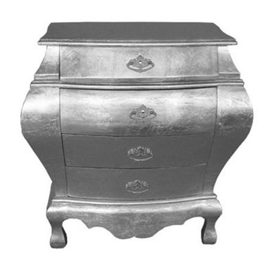 High Gloss Silver Chest of Draws