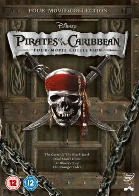 Pirates of the Caribbean DVD Boxset (includes PotC 1,2,3 & 4)