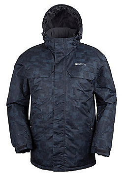 Mountain Warehouse Gelid Mens Printed Water Resistant Ski Jacket - Grey