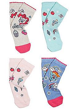 Hasbro 4 Pair Pack of My Little Pony Ankle Socks - Multi